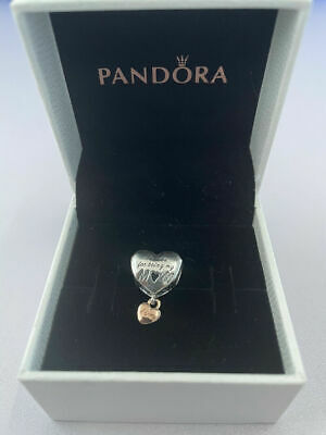 ALE S925 Genuine Silver Pandora Love You Mum Heart Charm With Gift Box 788830C00 • 13.29£