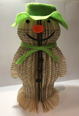 The Snowman Raymond Briggs, Made From A Recycled Book, Unique Christmas Present  • 12£