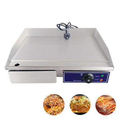 Commercial Electric Griddle Panini BBQ Grill Hotplate Countertop Bacon Egg Fryer • 109£