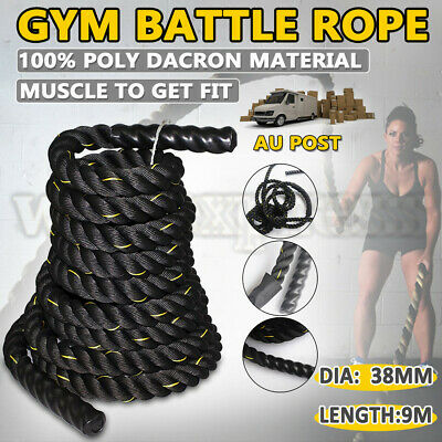 AU55.95 • Buy 38MM X 9M Heavy Home Gym Battle Rope Power Strength Training Exercise Fitness AU