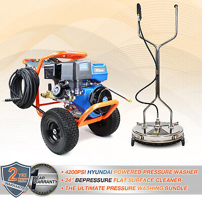 £1411.99 • Buy 🟠 Powerful Petrol Pressure Washer 4200 PSI 290 BAR + Rotary Cleaner 24 Inch 🔵