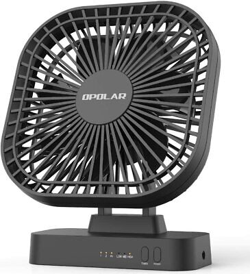 AU55.87 • Buy 5 Inch Desk Fan | With Timer, USB Or AA Battery Operated, 3 Speeds, Extra Quiet,