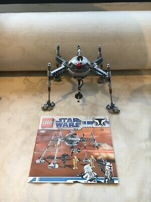 LEGO Star Wars Separatist Spider Droid 7681, Complete With Manual • 29.99£