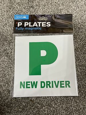 Simply 2x P Plates Fully Magnetic New Driver • 2.95£