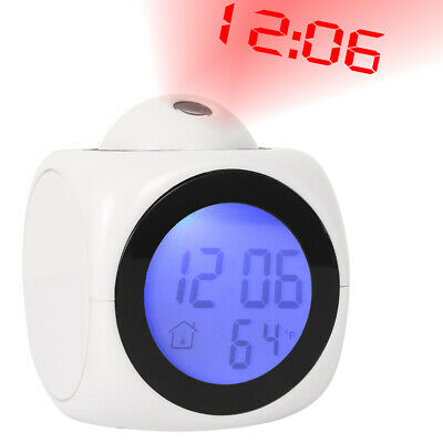 AU17.99 • Buy Digital Projection LED Alarm Clock Time Temperature Projector LCD Display AUS