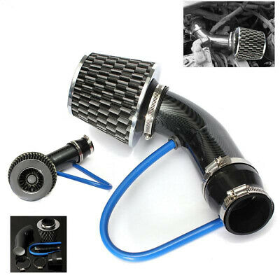 AU56.20 • Buy Air Intake Kit Black Pipe Diameter 3  +Cold Air Intake Filter+ Clamp+Accessories
