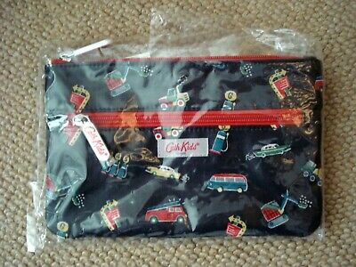 Bnwt Cath Kidston Boy's  Car Double Zip Pencil Case Stocking Filler Cath Kids • 5.99£