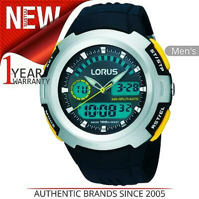 Lorus Mens Dual Display Chronograph Watch With Resin Strap • 20£