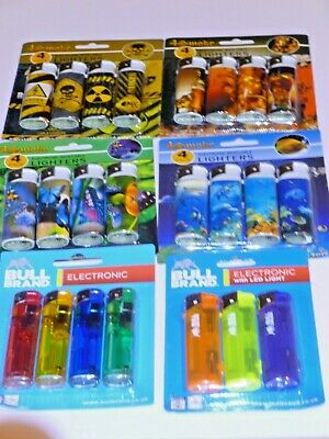 £2.80 • Buy Lighter Multi Pack  10  Designs To Choose  Electronic Refillable  Lighters