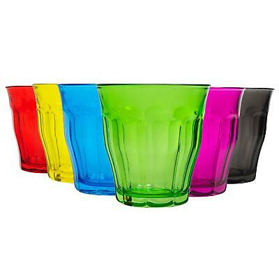 £14.99 • Buy Picardie Coloured Water Glasses Tempered Drinking Tumblers 250ml 6 Colours
