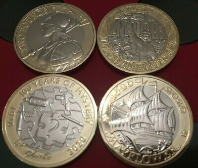 2020 £2 Two Pound BU Coin Britannia MayFlower VE Day Christie. Select Coin. • 6.95£