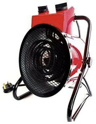£71.67 • Buy 3kw Industrial Fan Heater Electric Workshop Garage Shed Round Space Red 3000w