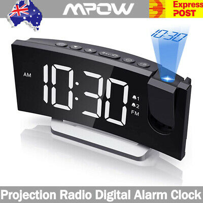 AU53.49 • Buy Mpow Alarm Clock Digital LED Projection Time Temperature Projector LCD Display
