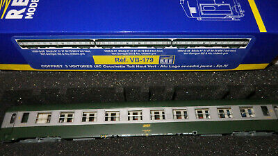 AU379.75 • Buy REE MODELES VB-179 Set Three Cot Bed SNCF Uic-Y Livery Green 302 / Inox