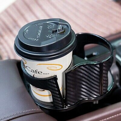 $16.98 • Buy ABS Carbon Fiber Center Console Drink Cup Holder For Car Interior Parts US Ship