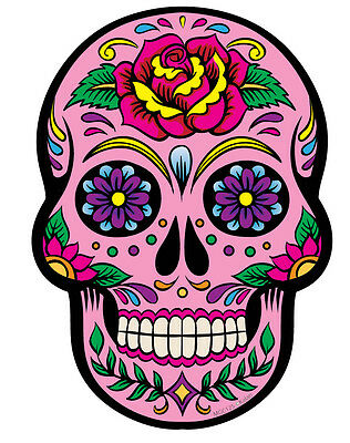 £1.99 • Buy 1 Pink Day Of The Dead Sugar Skull Wall Decals Stickers Car Motorbike Laptop