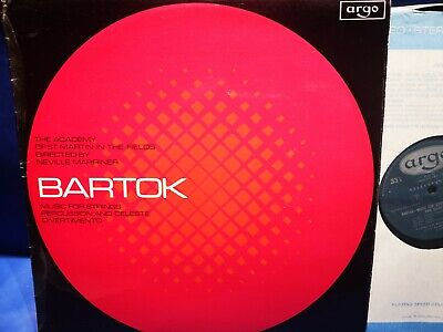 @ARGO ZRG 657 *OVAL 1ST* MARRINER* BARTOK MUSIC FOR STRINGS, PERCUSSION Etc* NM • 14.99£