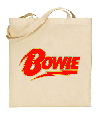 £6.49 • Buy Shopper Tote Bag Cotton Canvas Cool Icon Stars Bowie Cartoon Ideal Gift Present