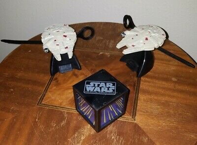 $24.99 • Buy 2 STAR WARS MILLENNIUM FALCON GYRO TOY & STAND And Yoda Darth Vader TACO BELL
