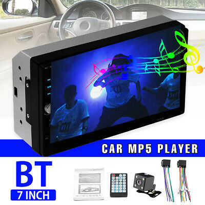 AU60.98 • Buy 7'' 2 Din Car Stereo Radio Touch Screen MP5 Player Bluetooth Head Unit + Camera