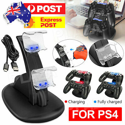 AU12.95 • Buy For Playstation 4 PS4 Controller Charger Dock Stand Charging Station Dualshock
