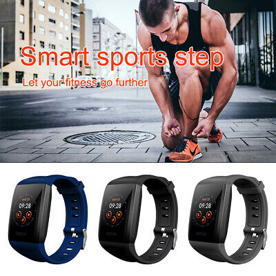 AU11.79 • Buy Bluetooth Smart Watch Heart Rate Fitness Wristband Men Women For IPhone Samsung