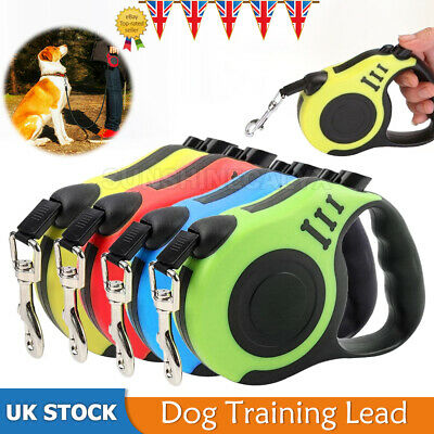 £4.99 • Buy 2 Types Dog Leash Retractable Nylon Lead Extending Puppy Walking Running Leads