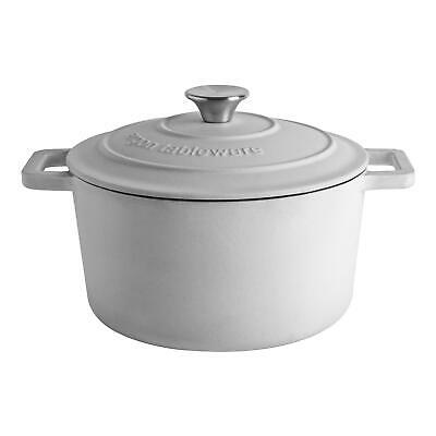 £26.99 • Buy Cast Iron Casserole Dish With Lid Enameled Hob To Oven 24cm Pebble