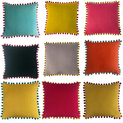 Riva Home Mardi Gras Bohemian Pom Pom Tasselled Cushion Cover • 12.14£