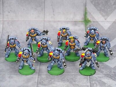 £14.99 • Buy 40k Space Marines Space Wolves TACTICAL SQUAD 10 Figures Painted GW 73269