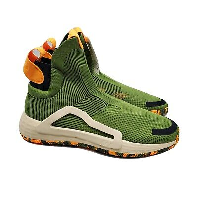 AU103.34 • Buy Adidas Men N3XT L3V3L Next Level Green Orange Black Basketball Shoe F97258 Sz 12