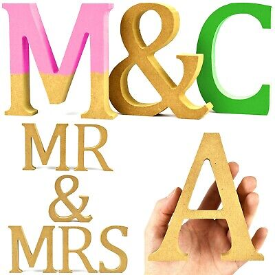 HIGH QUALITY Wooden MDF Craft Letters Free Standing Symbols 12cm High 20mm Thick • 2.79£