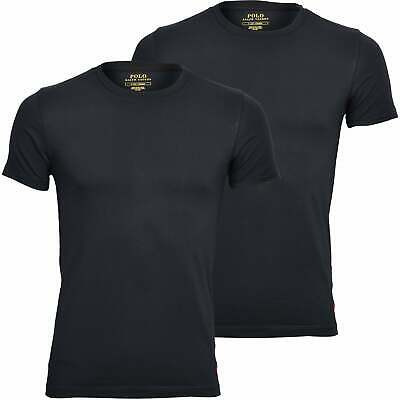 £37.99 • Buy Polo Ralph Lauren 2-Pack Stretch Cotton Crew-Neck Men's T-Shirts, Black With Red