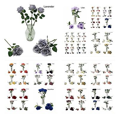£2 • Buy Artificial Silk Faux Rose Premium Quality Flower Stem 1pc ***New Colours Added**