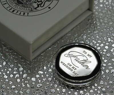 £11.99 • Buy FATHER OF THE BRIDE Silver Commemorative & Gift Box. Wedding Present/Favour