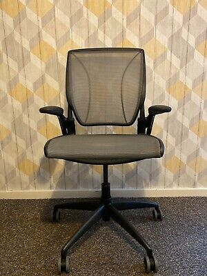 Humanscale Diffrient World (all Mesh) Ergonomic Lumbar Support Office Chair Eco • 249.99£