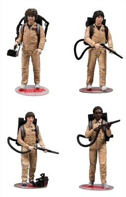 AU105 • Buy Stranger Things - Ghostbusters Deluxe Action Figure 4 Pack Mc Farlane Brand New