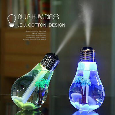AU11.79 • Buy LED Light Bulb Humidifier 400ML Essential Oil Diffuser Atomizer USB Rechargable