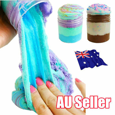 AU10.99 • Buy 3 Colors Icecream Cloud Slime Reduced Pressure Mud Stress Relief Kid Clay Toy S4