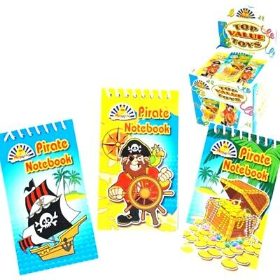 Mini Spiral Pirate Notebooks Children's Kids Birthday Party Loot Bags Filler • 1.79£