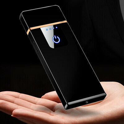 Electric USB Cigarette Lighter Windproof Rechargeable  Flameless Touch Sensor  • 5.78£