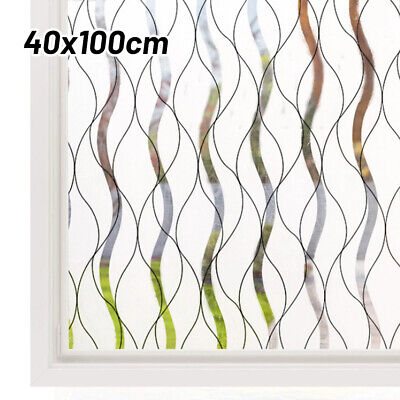 £7.01 • Buy Frosted Self-Adhesive Film Privacy Glass Sticky Back Vinyl-Static Cover
