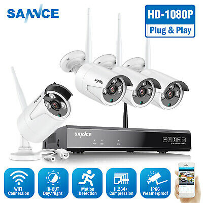 AU189.89 • Buy SANNCE 8CH 1080P HD Wireless Home Security Camera System IP WiFi NVR Recorder IR