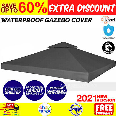 AU85.70 • Buy Gazebo Replacement Top Cover 310GSM 3x3m Outdoor Garden Waterproof Dark Grey