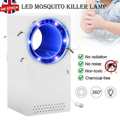 £6.39 • Buy Electric Insect Mosquito Fly Killer Bug Zapper UV Indoor Pest Catcher Trap Lamp