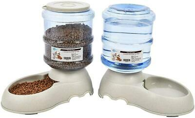 YGJT Automatic Pet Feeder Cat & Dog Food & Water Dispenser 2 Pack 3.75L Feeders • 18.31£