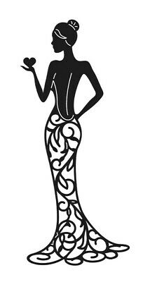 £2.98 • Buy Tattered Lace 'OLIVIA' Silhouette Die Cuts Lady Art Deco Card Making Card Topper