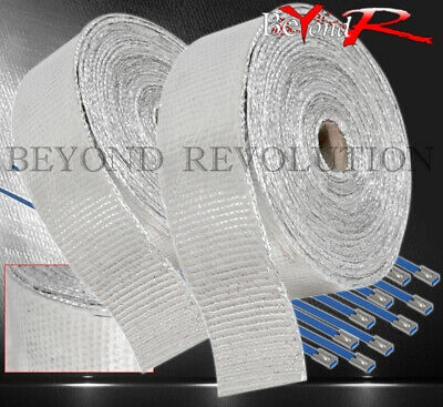 $ CDN50.34 • Buy 360  30Ft Heat Reduction Wrap Shield Cover Catback Exhaust Intake Piping Silver