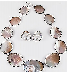 $18.50 • Buy Mabe Pearl Freeform Necklace