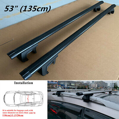 $81.74 • Buy 2Pcs 53  Aluminum Car Top Roof Rack Luggage Cargo Carrier Cross Bar With Lock